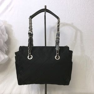PRADA quilted canvas chain bag